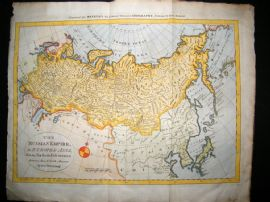 Bowen C1790 LG Folio Antique Hand Colored Map. Russian Empire